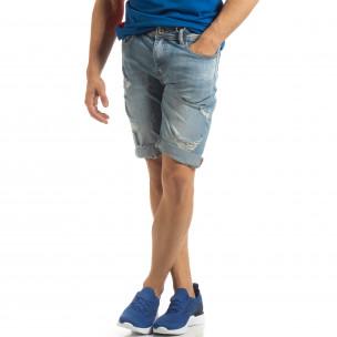 Ανδρική γαλάζια τζιν βερμούδα