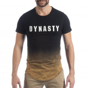 Ανδρική μαύρη κοντομάνικη μπλούζα Dynasty  2