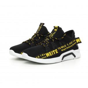 Ανδρικά αθλητικά παπούτσια με κίτρινη επιγραφή 2