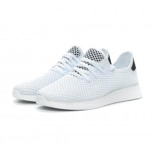 Ανδρικά λευκά αθλητικά παπούτσια Mesh ελαφρύ μοντέλο  2