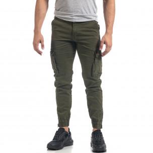 Ανδρικό πράσινο παντελόνι cargo J.Store