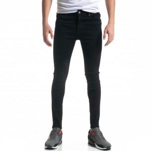 Basic ανδρικό μαύρο τζιν Skinny fit