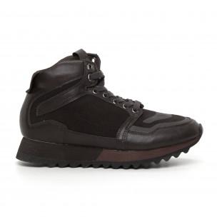 Ανδρικά ψηλά καφέ αθλητικά παπούτσια
