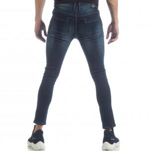 Ανδρικό μπλε κλασικό τζιν Skinny Jeans 2