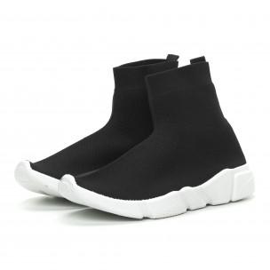 Ανδρικά μαύρα αθλητικά παπούτσια Slip-on   2