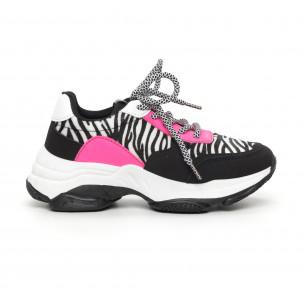 Γυναικεία αθλητικά παπούτσια με ζέβρα μοτίβο