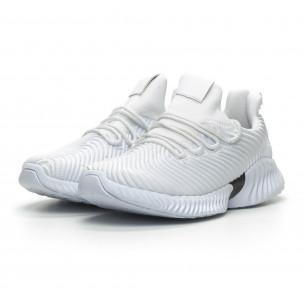 Ανδρικά λευκά αθλητικά παπούτσια Wave ελαφρύ μοντέλο  2