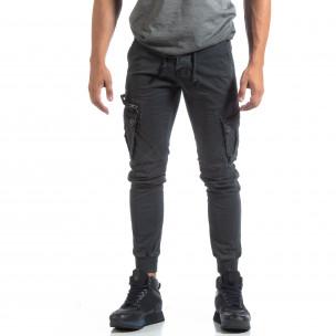 Ανδρικό γκρι παντελόνι Cargo Jogger 2