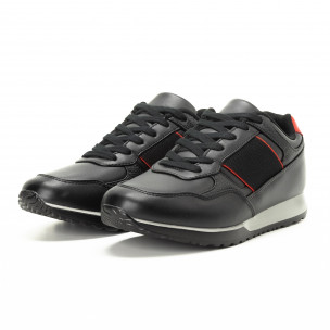 Ανδρικά μαύρα αθλητικά παπούτσια κλασικό μοντέλο 2