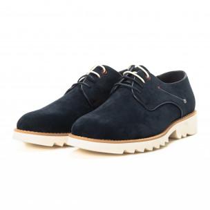 Casual ανδρικά μπλε σουέτ παπούτσια   2