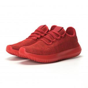 Ανδρικά κόκκινα αθλητικά παπούτσια All Red ελαφρύ μοντέλο  2