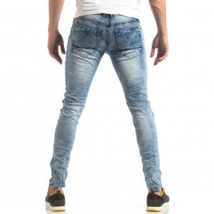 Ανδρικό γαλάζιο τζιν Washed Slim Jeans  2