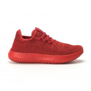 Ανδρικά κόκκινα αθλητικά παπούτσια All Red ελαφρύ μοντέλο