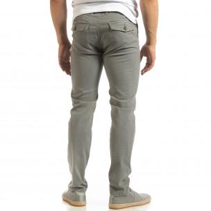 Ανδρικό γκρι παντελόνι CHINO  2