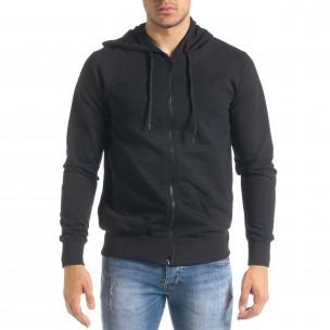 Ανδρικό μαύρο φούτερ Duca Homme