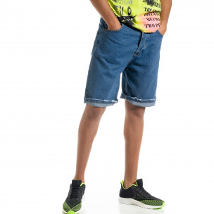 Ανδρικό γαλάζιο τζιν βερμούδα Loose fit
