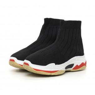 Γυναικεία μαύρα πλεκτά αθλητικά παπούτσια Slip-on 2