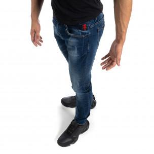 Ανδρικό μπλέ ξεθωριασμένο τζιν με σκισίματα Slim fit Yes!Boy 2