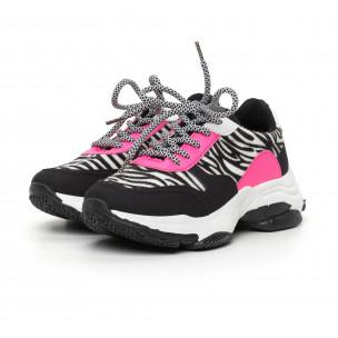 Γυναικεία αθλητικά παπούτσια με ζέβρα μοτίβο  2
