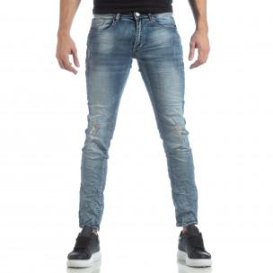 Ανδρικό γαλάζιο τζιν Slim fit