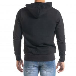 Ανδρικό μαύρο φούτερ Duca Homme  2