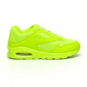 Ανδρικά νέον πράσινα αθλητικά παπούτσια με αερόσολα