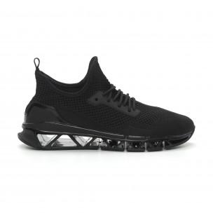 Ανδρικά μαύρα αθλητικά παπούτσια Knife ελαφρύ μοντέλο