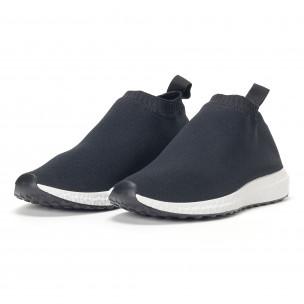 Ανδρικά slip-on μαύρα αθλητικά παπούτσια κάλτσα 2