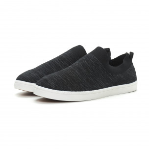 Ανδρικά μαύρα μελάνζ sneakers κάλτσα  2