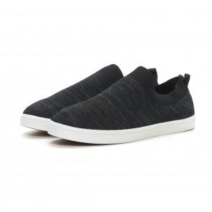 Ανδρικά μαύρα sneakers YMD  2