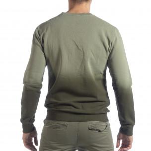 Ανδρική πράσινη μπλούζα με επένδυση 2