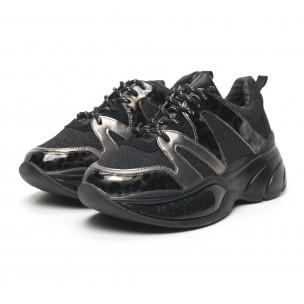 Γυναικεία αθλητικά παπούτσια με λάμψη και χοντρή σόλα 2