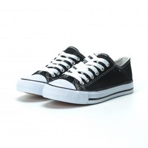Γυναικεία μαύρα sneakers κλασικό μοντέλο  2