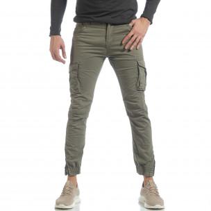 Ανδρικό πράσινο cargo Jogger παντελόνι   2