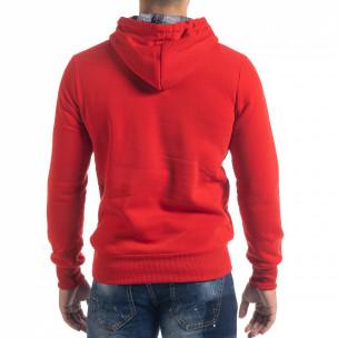 Ανδρικό κόκκινο φούτερ hoodie με πριντ Originals 2