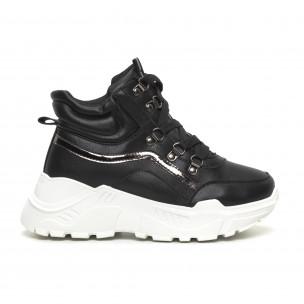 Γυναικεία ψηλά αθλητικά παπούτσια Trekking design Fashion&Bella
