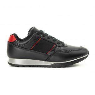 Ανδρικά μαύρα αθλητικά παπούτσια κλασικό μοντέλο