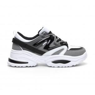Chunky ανδρικά γκρι αθλητικά παπούτσια
