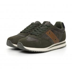 Ανδρικά πράσινα αθλητικά παπούτσια   2