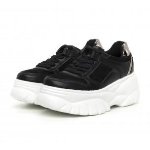 Γυναικεία Chunky αθλητικά παπούτσια μαύρα με πλατφόρμα  2