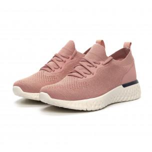 Γυναικεία ροζ αθλητικά παπούτσια καλτσάκι ελαφρύ μοντέλο  2