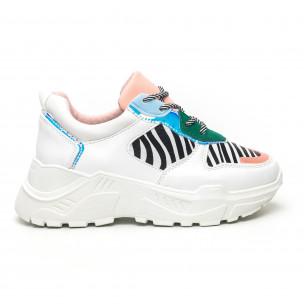 Γυναικεία πολύχρωμα Chunky αθλητικά παπούτσια με ζέβρα μοτίβο