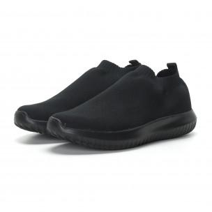 Ανδρικά χαμηλά μαύρα αθλητικά παπούτσια κάλτσα All black  2