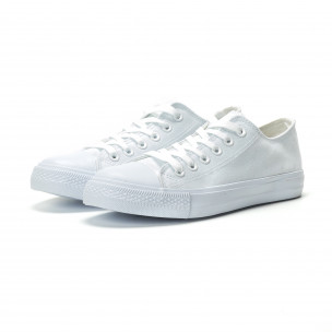 Ανδρικά λευκά sneakers κλασικό μοντέλο  2