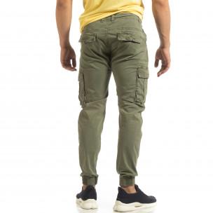 Ανδρικό πράσινο παντελόνι Cargo Jogger  2