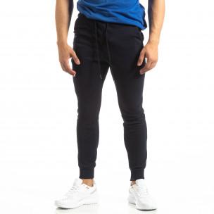 Ανδρική σκούρα μπλε βαμβακερή φόρμα Basic  2