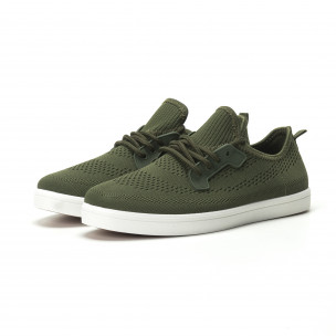 Ανδρικά χακί sneakers ελαφρύ μοντέλο  2