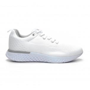 Ανδρικά λευκά πλεκτά αθλητικά παπούτσια