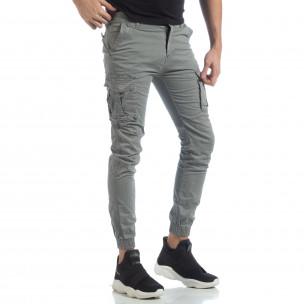 Ανδρικό γκρι cargo Jogger παντελόνι