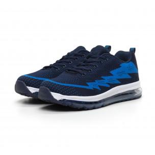 Ανδρικά μπλε αθλητικά παπούτσια με αερόσολα MAX  2